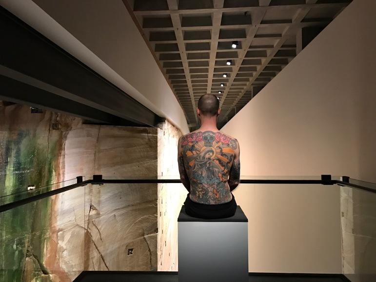 Tattoo on Tim Steiner by Wim Delvoye